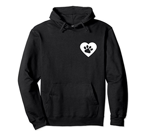 Unisex Rescue Dog Hoodie Women Men Vintage Puppy Paw Pet Lover Small Black