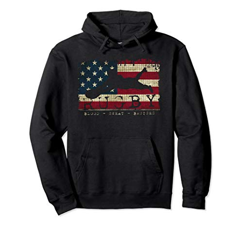 USA Flag Colors Rugby Blood Sweat Bruises - Player - Hoodie
