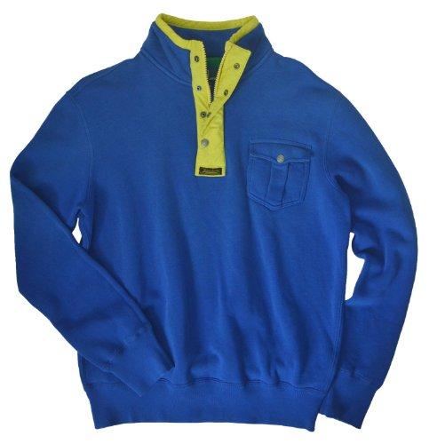 Polo Ralph Lauren Men's Bright Fleece Mockneck Pullover, L, Sapphire (Mens Ralph Lauren Fleece)