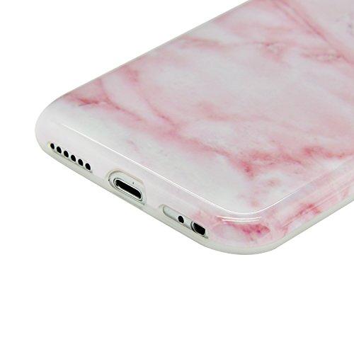 para iPhone 6 Plus Funda Mármol Sunroyal® Suave TPU Carcasa Parachoques Case Cover [Shock-Absorción] [Anti-Arañazos] TPU Gel Silicona Funda Cubierta Protectora Ultra Slim Flexible Caja del Teléfono pa A-22