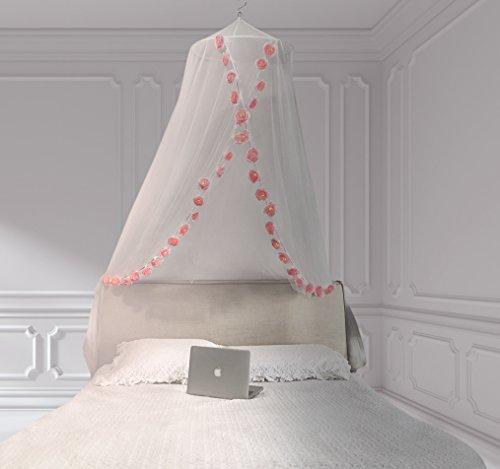 DREAM TADA Little Girls Room Decor - Crib Tent LED   Girls Canopy Reading Tent Lights   Rose Lights for Canopy Curtain (Pink Rose LED Lights) by DREAM TADA (Image #4)