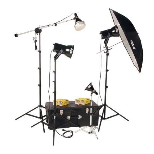 Smith Victor K84, 4 Light, 1000 watt Ultra Cool Photoflood Portraiture Kit (Photoflood Studio Kit Lighting)