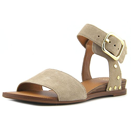 Franco Sarto Womens Park 2 Leather Open Toe Casual Ankle Strap Sandals Summer Beige Lux Brushed Suede