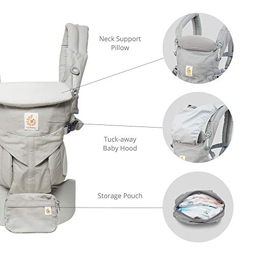Ergobaby Carrier, Omni 360 All Carry Positions Baby Carrier, Pearl Grey by Ergobaby (Image #5)