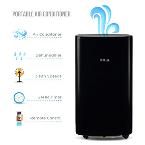Della 14000 BTU 4-in1 Portable Air Conditioner Fan Cooling Dehumidifier Cool LED...