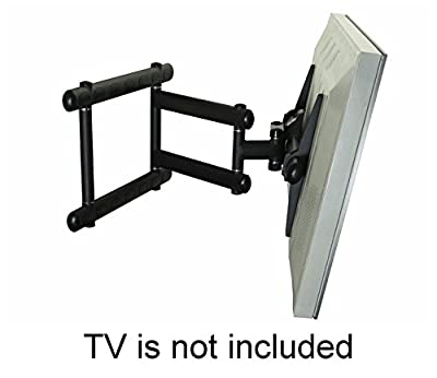 "Super Heavy Duty Swing out Arm for 70"", 75"", 85"", 88"", 90"" TV up to 300 lbs - Black"