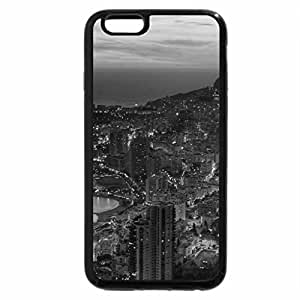 iPhone 6S Case, iPhone 6 Case (Black & White) - Golden View of City