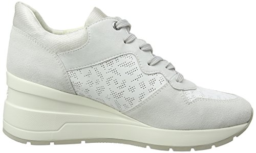 C Geox white Zapatillas Blanco Para White off Zosma D Mujer qq6A4