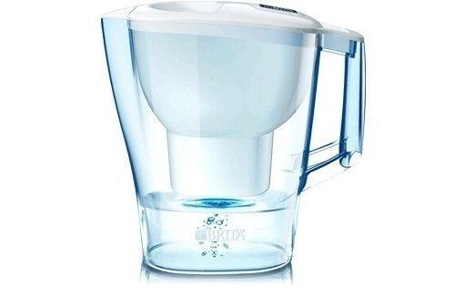 BRITA Caraffa filtrante per acqua Aluna White con 1 filtro MAXTRA 1012504 caraffe; filtranti