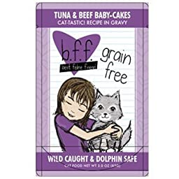 Weruva Best Feline Friend Tuna & Beef Baby Cakes - 12x3oz
