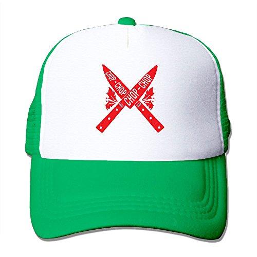 Men/Women CHOP CHOP Knives Mesh Snapback Hats Adjustable Hip-hop (Rose Fish Knife)