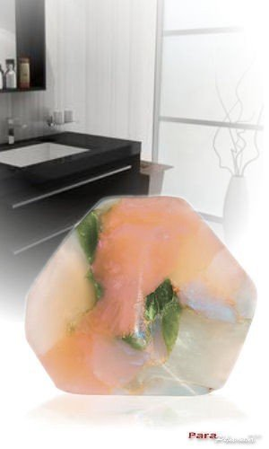 SoapRocks TS Pink White Opal Soap that looks like a Rock ~ 6 oz. Gem Rocks Birthstone Jabón Gemstone