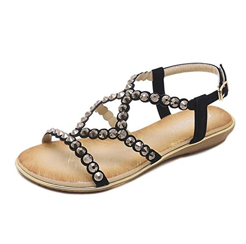 Comfortable Tree Flats Size amp;Sea Sandals Rhinestones Girl Glitzy Women Sandals Large Gold 0xwO0qaHr