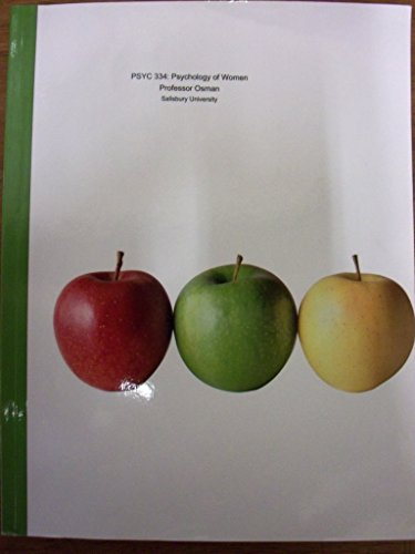 PYSC 334: Psychology of Women (Custom Edition for Salisbury University)