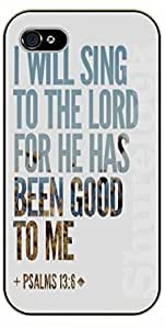 iPhone 5C Bible Verse - I will sing to the Lord - black plastic case / Verses, Inspirational and Motivational