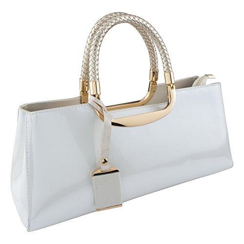 Bagood 2018 Ladies Handbag Fashion Patent Leather Glossy Handbag Casual Shoulder Messenger Bag Wallet Ladies Atmosphere Wild ()