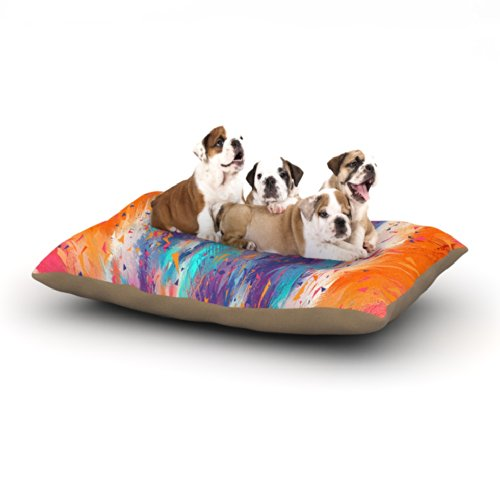 Kess InHouse Danny Ivan ''Colorful Fire'' Cool Fire Fleece Dog Bed, 30 by 40-Inch by Kess InHouse