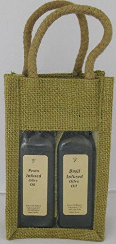 Olive Oil Pantry Flavor Infused Olive Oil and Balsamic Vinegar Gift Set (Pesto and Basil Olive Oils)