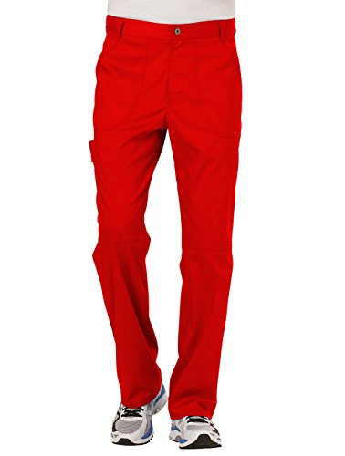 Cherokee Men's Fly Front Pant, Red, XXX-L]()