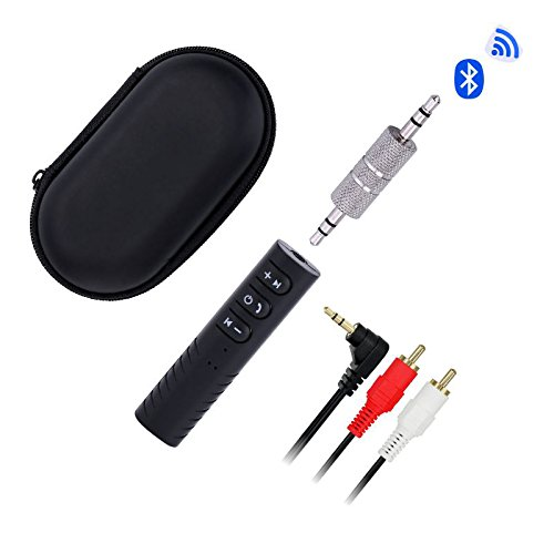 Bluetooth Receiver,Bluetooth 4.0 Portable Car Kits Audio Adapter Hands Free Calling Built-in Mic for Car Audio, Wired Headphones, Speaker, AUX Home Sound System,LiBangTai