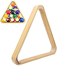 Tianhaik Wooden Billiard Ball Rack, Snooker Balls 15-Ball Triangle Rack Table Pool Ball Racks Rhombus Frame In