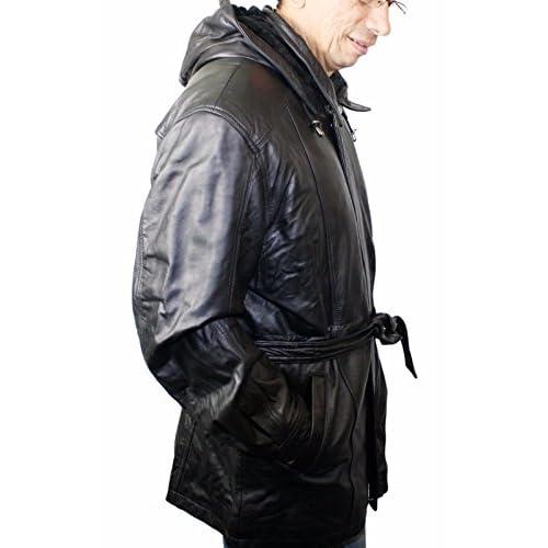 01fdf72043e 60%OFF Men soft genuine new zealand lamb leather classic 3 4 zipper ...
