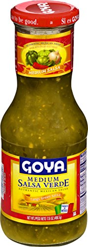 Goya Salsa Medium Verde Tangy Green Salsa 17 6 Oz