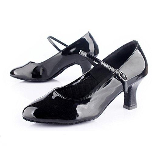 Donne Professionista Ragazza altri black Delle Della Latino Sandali Ballroom Scarpe Superiore 37 Shoe Dance Salsa Colori Med Satin CqfXwAtxn