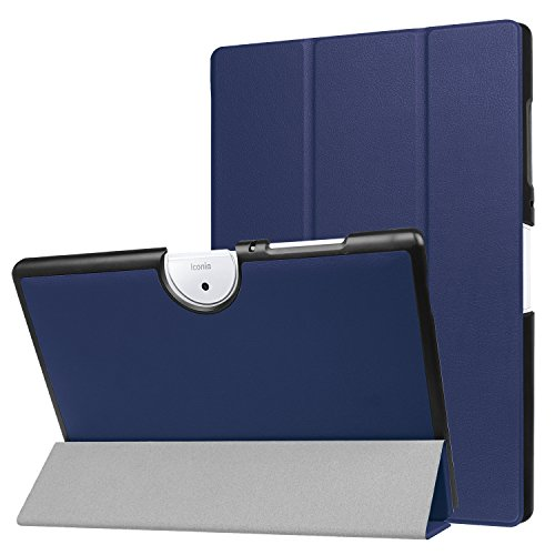 Acer Iconia Tab 10 B3-A40 Case, Pasonomi Ultra Slim Lightweight PU Leather Folio Case Stand Cover for New Acer Iconia Tab 10 B3-A40 Tablet (Dark Blue)