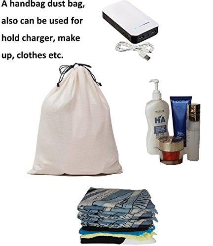 Misslo Cotton Breathable Dust-proof Drawstring Storage Pouch Bag (Pack 3 M) by MISSLO (Image #4)