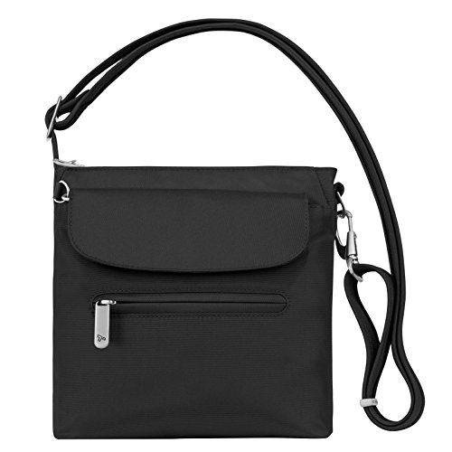Classic Messenger Bag Backpacks - Travelon Anti-Theft Classic Mini Shoulder Bag, Black, One Size