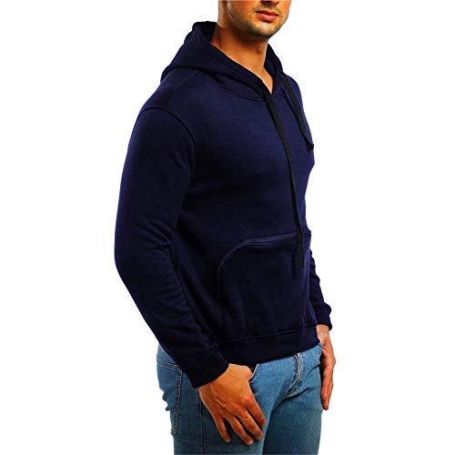 Foncé Pour Éclair Longue Xxl Fermeture Long Avec Asymétrique Coupe Zip Mince Bleu Marine Xxxl Hommes Zhrui Capuche Surdimensionnée Sweat Taille 1nqYYIPw