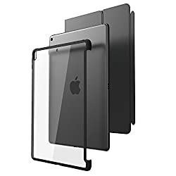 All New iPad Pro 10.5 Case, i-Blason [Compatible with Official Smart Cover and Smart Keyboard] Clear Hybrid Cover Case [Updated Version] for Apple iPad Pro 10.5 inch 2017 Release (Clear/Black)