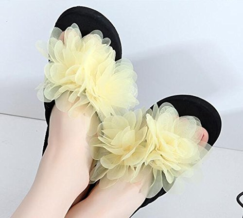 The Cool Yellow Summer Clip Beach Cake And 6Cm Base Slip Sponge Slopes A 36 Pin Slippers Thick Flowers The Non Word Sand KHSKX With Girl Has 0wqgnX