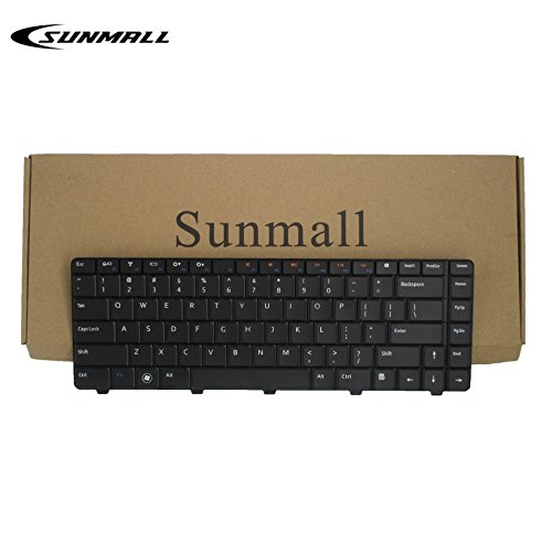 SUNMALL Laptop Replacement Keyboard For Dell Inspiron 14V 14R N4010 N4030 N3010 N5030 M5030 series Black US Layout(6 Months Warranty)
