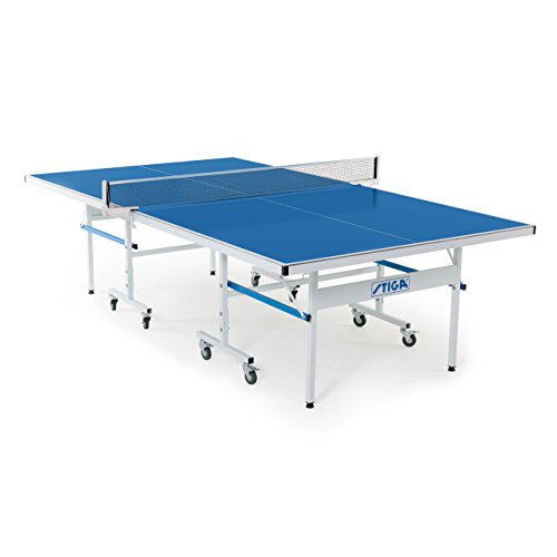 STIGA XTR Outdoor Table Tennis Table - 95% Preassembled Out of the Box with Aluminum Composite Top for All-Weather Performance (Complete Round Pool Package)