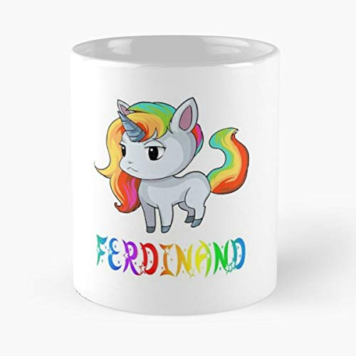 (Ferdinand Unicorn Present Gift Funny Floral Coffee Mugs Gifts )