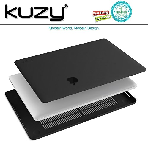 MacBook Pro 13 inch Case 2018 2017 2016 Release A1989 A1706 A1708, Kuzy Plastic Hard Shell Cover for Newest 13 inch MacBook Pro Case with Touch Bar Soft Touch - Black by Kuzy (Image #5)
