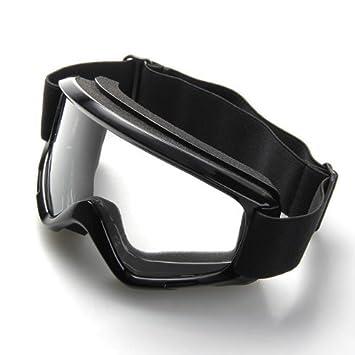 Gafas Lente Lens contra Viento Protección para Moto Scooter Biker Negro