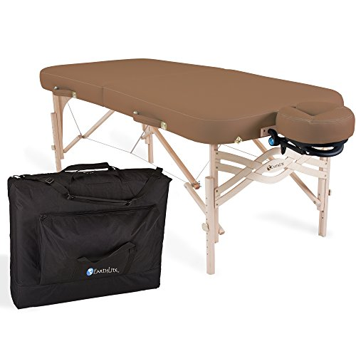 "EARTHLITE Premium Portable Massage Table Package Spirit - Spa-Level Comfort, Deluxe Cushioning incl. Flex-Rest Face Cradle & Strata Face Pillow, Carry Case (30/32"" x 73"") - Made in USA ()"