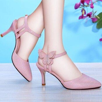 Les Nouveaux Talons De L'Imperméabilisation Les KHSKX Sont De À Chaussures Talons Femme Des Printemps Et Sandales Femmes Et Au Talons Épais Hauts Pink Mode En À Été La OOvaqR