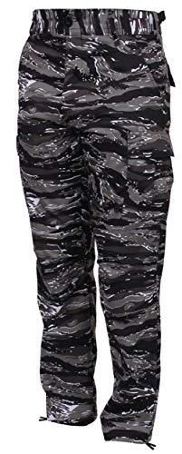 BlackC Sport BDU Pants Urban Tiger Stripe Military Style Cargo Fatigue Pants