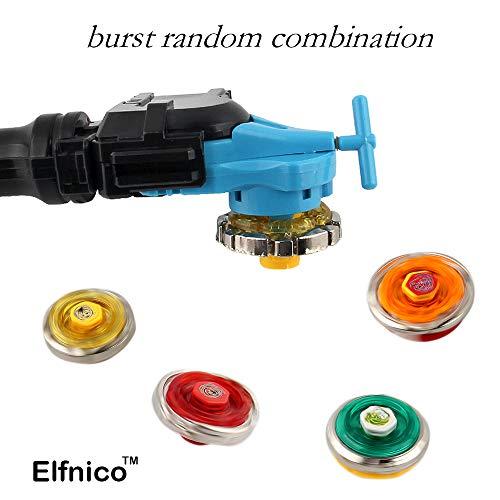 Elfnico Battling Tops Metal Fusion Starter Set with 4D Launcher Grip Burst Battle Set by Elfnico (Image #6)