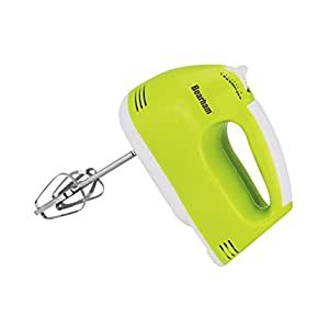 Bearham® Hand Mixer Food Whisk Speed Blender Chrome Beaters Electric Kitchen Green