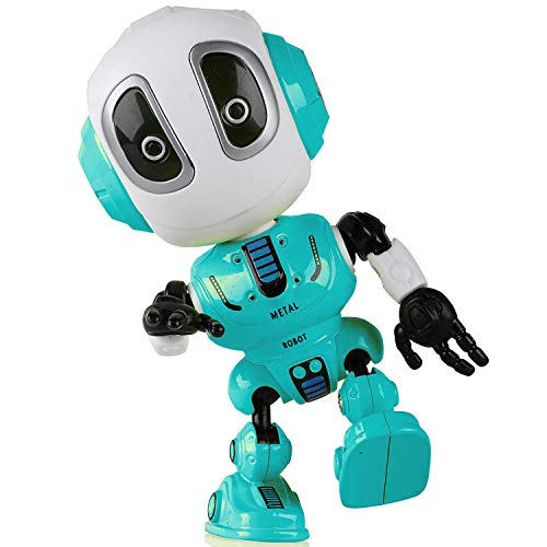 Sopu Talking Robot Toys Repeats What You Say Kids Robot Toy Metal Mini Body Robot with Repeats Your Voice, Colorful Flashing Lights and Cool Sounds Robot Interactive Toy for Boys - Robot Green