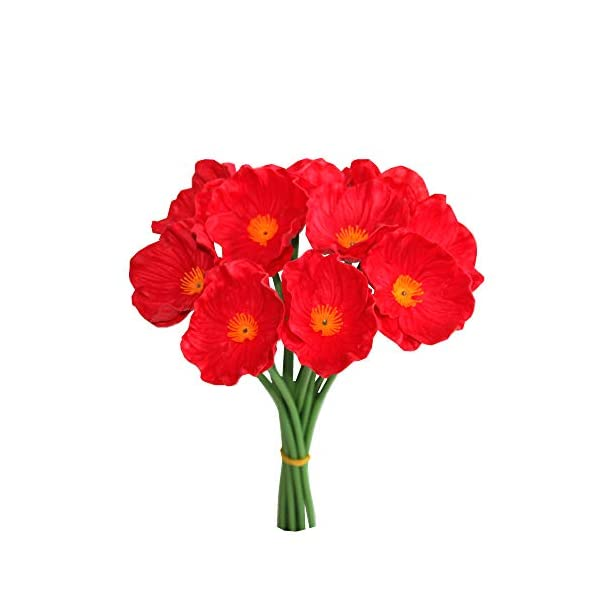 Mandys-Poppy-Artificial-Flower-for-Wedding-Home-Kitchen-PULatex-125-vase-not-Include-