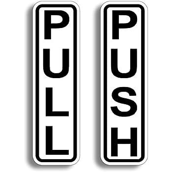 Amazon.com: Push Pull - Adhesivo para puerta de restaurante ...