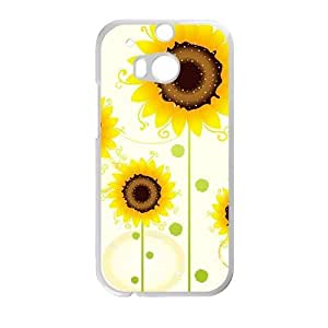 Glam Sunflowers personalized creative custom protective phone case for HTC M8