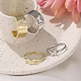 2Pcs Butterfly Rings for Women,Butterfy Pinky
