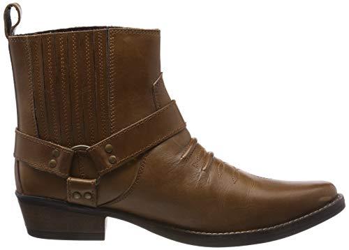 Kick Pelle Cowboy Stivaletti Tan Da Kk4 Stivali Boots In Biker Mens Footwear Uomo Rrq4SR